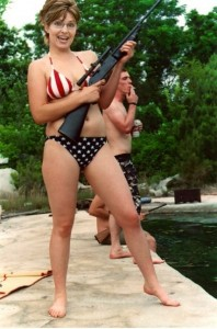 Sarah Palin in a bikini
