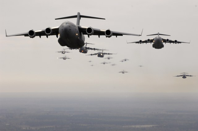 Formation of C-17 transports