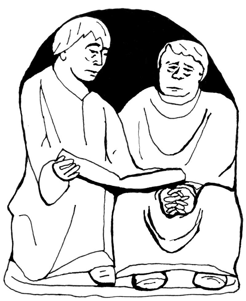 Lesende Monche